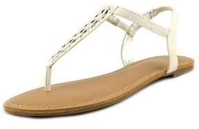 Material Girl Skyler Open Toe Canvas Thong Sandal.