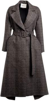 Mulberry Checked Belted Coat