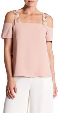 Cooper & Ella Sandra Beaded Cold Shoulder Shirt