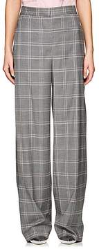 Cédric Charlier Women's Plaid Wool-Blend Wide-Leg Trousers