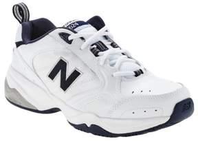 New Balance Men's 624 Cross-Trainer WHITE NAVY 7 4E
