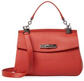 Longchamp Women's Pebbled Leather Crossbody - RED - STYLE