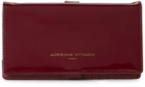 adrienne vittadini Wine Patent Charging Crossbody Wallet