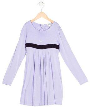 Armani Junior Girls' Jewel-Embellished A-Line Dress