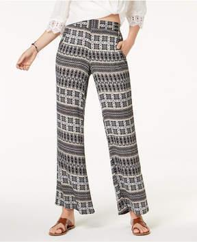 BCX Juniors' Printed Wide-Leg Pants