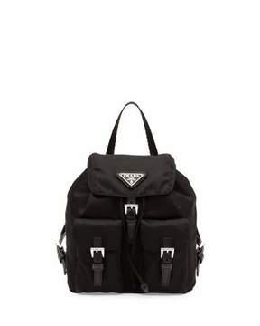 Prada Vela Mini Crossbody Backpack Bag, Black (Nero)