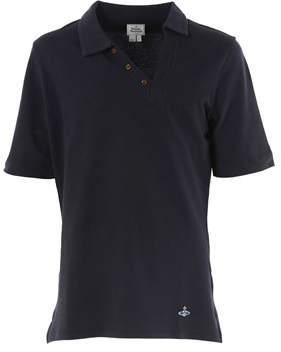 Vivienne Westwood Men's Blue Cotton Polo Shirt.