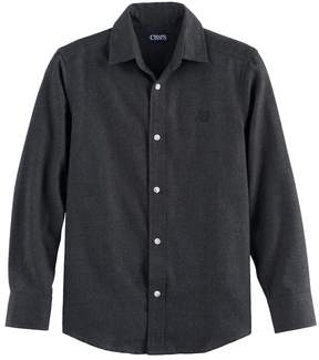 Chaps Boys 4-20 Solid Flannel Button-Down Shirt