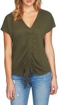 1 STATE 1.STATE Speckle Cinch Front Knit Top