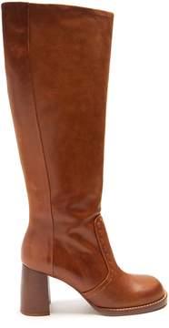 Joseph Block-heel leather boots