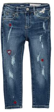 AG Jeans The Ella Super Skinny Embroidered Jeans (Toddler & Little Girls)