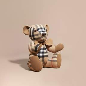 Burberry Large Thomas Bear in Check Cashmere