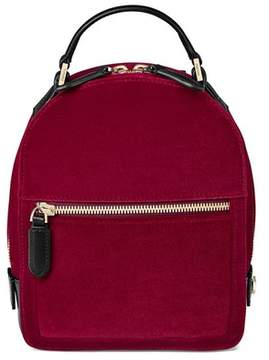 Aspinal of London Micro Mount Street Backpack In Cherry Velvet