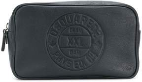DSQUARED2 embossed logo wash bag