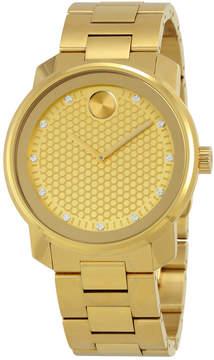 Movado Bold Yellow Gold Diamond Dial Men's Watch