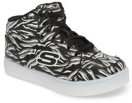 Skechers Girl's Energy Lights Glow In The Dark Sneaker