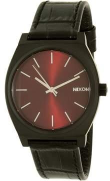 Nixon Men's Kensington A0451886 Black Leather Quartz Dress Watch