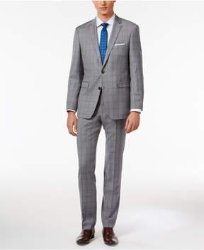 Vince Camuto Men's Slim-Fit Gray Shadow Windowpane Suit