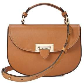 Aspinal of London Letterbox Saddle Bag In Smooth Tan