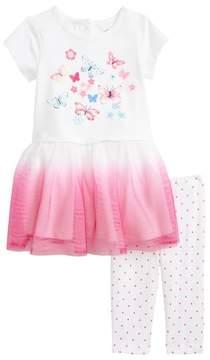 Little Me Butterfly Dress & Leggings Set