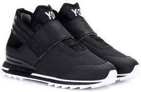 Y-3 Atira leather-trimmed sneakers