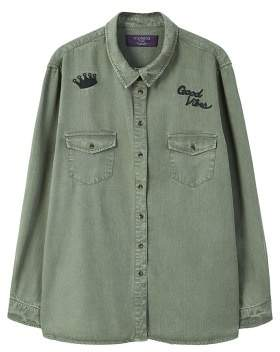 Violeta BY MANGO Embroidered detail shirt