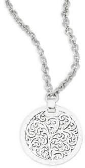 Lois Hill Geometric Cut Silvertone Necklace