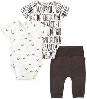 Petit Lem White Alphabet Bodysuit Set - Newborn & Infant
