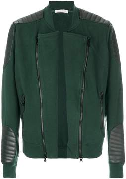 Pierre Balmain leather patch varsity jacket