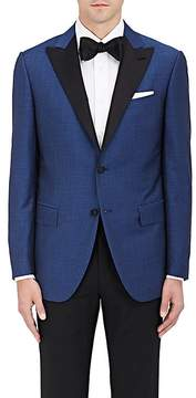 Caruso Men's Broken-Stripe Wool-Blend Two-Button Tuxedo Jacket