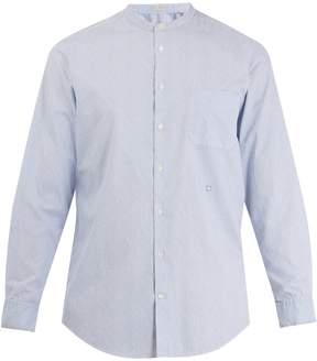 Massimo Alba Grandad-collar striped cotton shirt