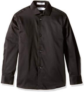Calvin Klein Black Long-Sleeve Button-Up - Boys