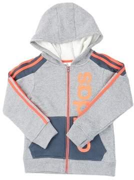 adidas Action Block Fleece Jacket - Grey/Dark - Boys - 4