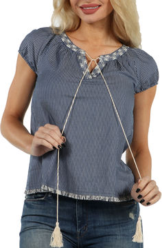 24/7 Comfort Apparel Meadow Angel Peasant Top