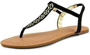 Material Girl Skyler Open Toe Synthetic Thong Sandal.