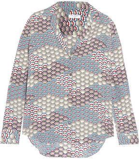 Equipment Adalyn Printed Washed-silk Shirt - Gray