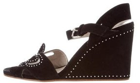 Marc Jacobs Studded Mesh Wedges