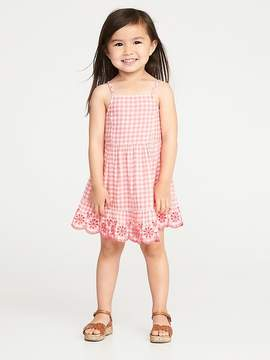 Old Navy Gingham Tiered-Cami Dress for Toddler Girls