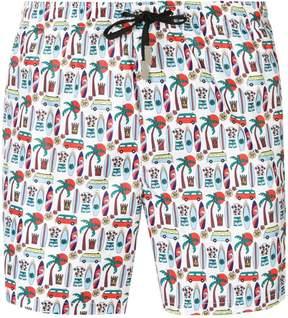 fe-fe printed swim shorts