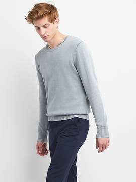 Gap Pullover Crewneck Sweater in Combed Cotton