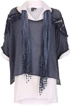 Izabel London *Izabel London Blue 3/4 Sleeve Top
