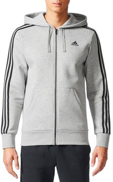 adidas Men's Essentials 3S Brushed Fleece Zip Hoodie