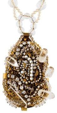 Erickson Beamon Crystal & Faux Pearl Pendant Necklace