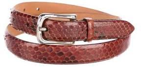 Barneys New York Barney's New York Snakeskin Waist Belt