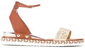 Casadei braided sole sandals