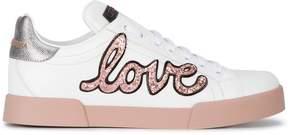 Dolce & Gabbana love glitter embellished sneakers