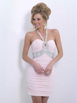 Blush Lingerie X154 Bedazzled Halter Neck Sheath Skirt