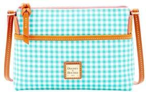 Dooney & Bourke Small Gingham Ginger Crossbody Shoulder Bag - SEA FOAM - STYLE