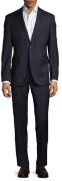 Saks Fifth Avenue Trim-Fit Herringbone Wool Suit