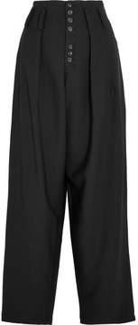 Joseph Howard Stretch-gabardine Wide-leg Pants - Black
